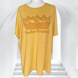 Vintage Nacho Problem Yellow Oversized Tee